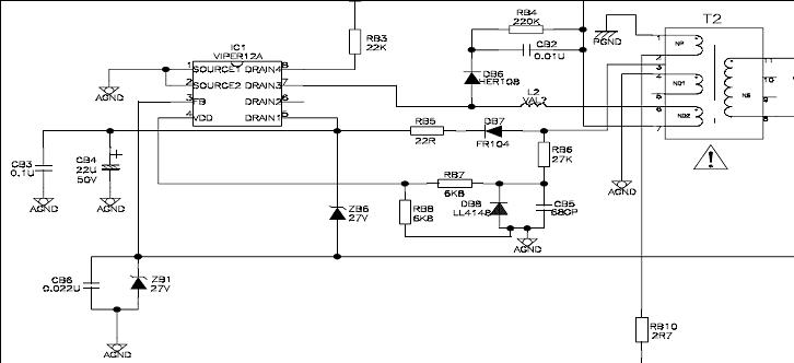 tcl-l32v10be/ms58/pl3222电源板/屏闪维修实例
